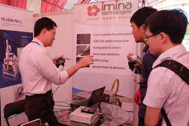 nanometer-scale positioning and microstructure probing, moving, cutting, picking & bending. Imina miBot Taiwan